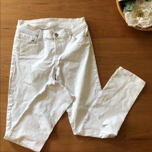 Loft White Modern Straight Jean